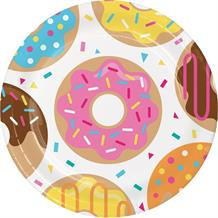 Doughnut Time Party 23cm Party Plates