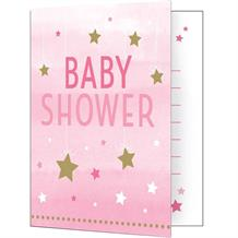 Pink Twinkle Star Baby Shower Party Invitations | Invites
