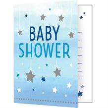 Blue Twinkle Star Baby Shower Party Invitations | Invites