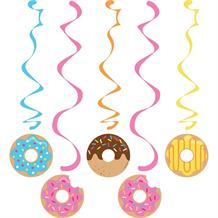Doughnut Time Party Hanging Swirls l Decorations