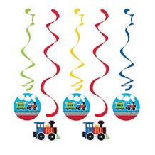 All Aboard | Train Party Hanging Swirls l Decorations