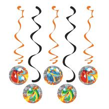 Dragons Party Hanging Swirls l Decorations