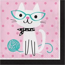 Purrfect Cat Party Napkins | Serviettes
