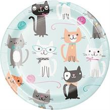 Purrfect Cat Party Cake Plates