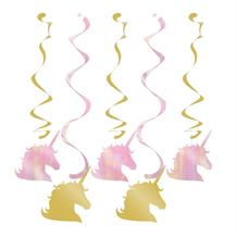 Unicorn Sparkle Party Hanging Swirls l Decorations