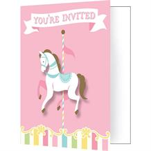 Carousel Party Invitations | Invites