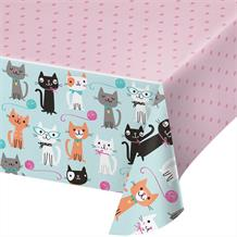 Purrfect Cat Party Tablecover | Tablecloth