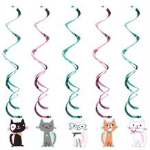 Purrfect Cat Party Hanging Swirls l Decorations