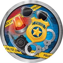 Police Party 23cm Party Plates