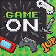 Gaming | Game On Party Napkins | Serviettes