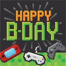 Gaming | Game On Party Happy Birthday Napkins | Serviettes