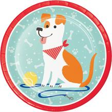 Dog Party 23cm Party Plates