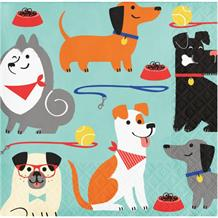 Dog Party Beverage Napkins | Serviettes