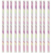 Iridescent Party Drinking Straws