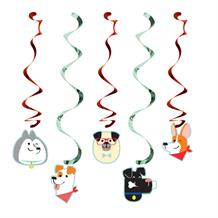 Dog Party Hanging Cutouts Decorations