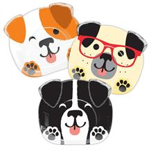 Dog Shaped Party Plates