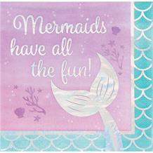 Mermaid Shine Have all the Fun Party Napkins | Serviettes