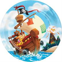 Pirate Treasure Party 23cm Party Plates