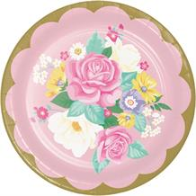 Floral Tea Party 23cm Party Plates