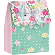 Floral Tea Party Card Favour Box
