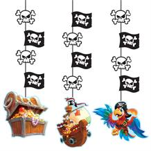 Pirate Treasure Party Hanging Cutouts Decorations