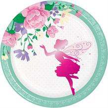 Floral Fairy Sparkle Party Cake Plates