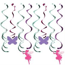 Floral Fairy Sparkle Party Hanging Cutouts Decorations