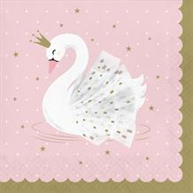 Stylish Swan Party Napkins | Serviettes