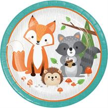 Wild Woodland Animals 23cm Party Paper Plates