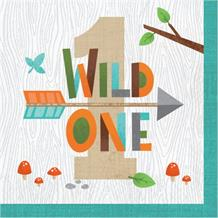 Wild Woodland Animals 1st Birthday Party Napkins | Serviettes