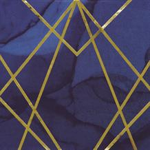 Navy Blue & Gold Geode Party Napkins | Serviettes