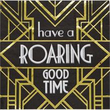 1920's Roaring Twenties Roaring Good Time Party Napkins | Serviettes