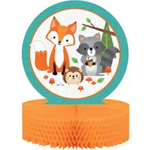 Wild Woodland Animals Party Honeycomb Table Centrepiece Decoration