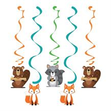 Wild Woodland Animals Party Hanging Cutout Decorations