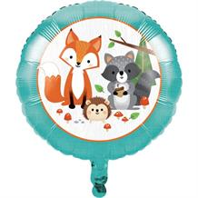 "Wild Woodland Animals 18"" Party Foil Helium Balloon"