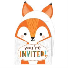 Wild Woodland Animals Party Invitations | Invites with Envelopes