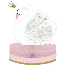 Stylish Swan Party Honeycomb Table Centrepiece Decoration
