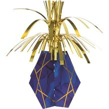 Navy Blue & Gold Geode Cascade Table Centrepiece | Decoration