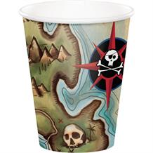 Pirate Map Party Cups