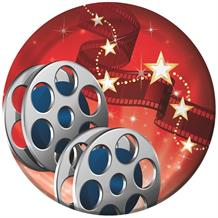 Hollywood Lights Movie Reel Party Cake Plates