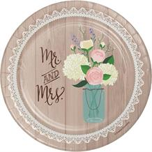 Rustic Mr and Mrs Wedding Cake Plates