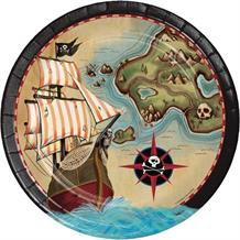 Pirate Map Party Plates