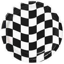 Chequered Flag Racing Party Plates