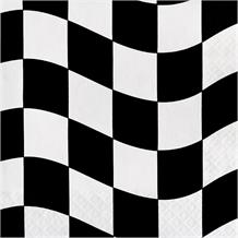 Chequered Flag Racing Party Napkins | Serviettes