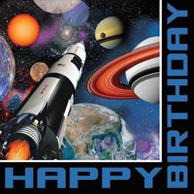 Space Blast Happy Birthday Napkins | Serviettes