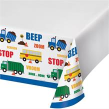Traffic Jam | Vehicle Party Tablecover | Tablecloth