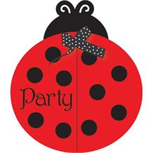 Ladybird Fancy Party Invitations | Invites