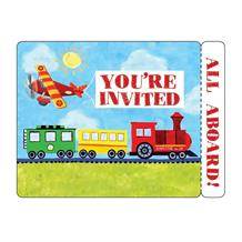 On The Go Transport Party Invitations | Invites