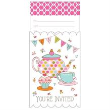 Tea Time | Teapot | Cup Party Invitations | Invites