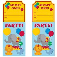 Circus Party Invitations | Invites with Envelopes